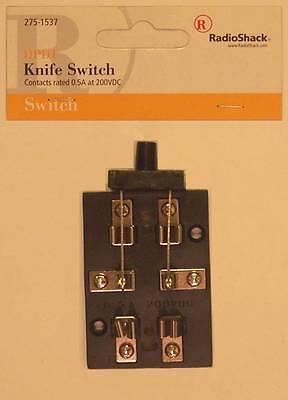 Radioshack 275-1537 Dpdt Hobby-type Knife Switch 0.5a At 200vdc