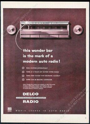1956 Delco Wonder Bar WonderBar car radio illustrated vintage print ad