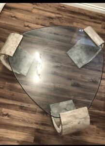 Beautiful marble stone glass coffee table . free delivery