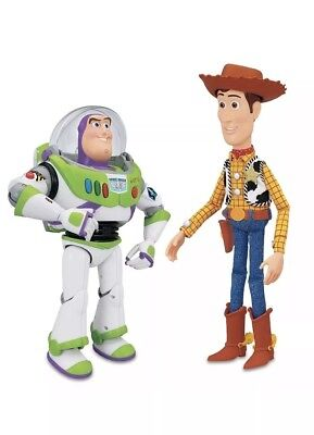 Talking Toy Story Buzz Lightyear & Woody Interactive Action Figures (New - Woody Lightyear