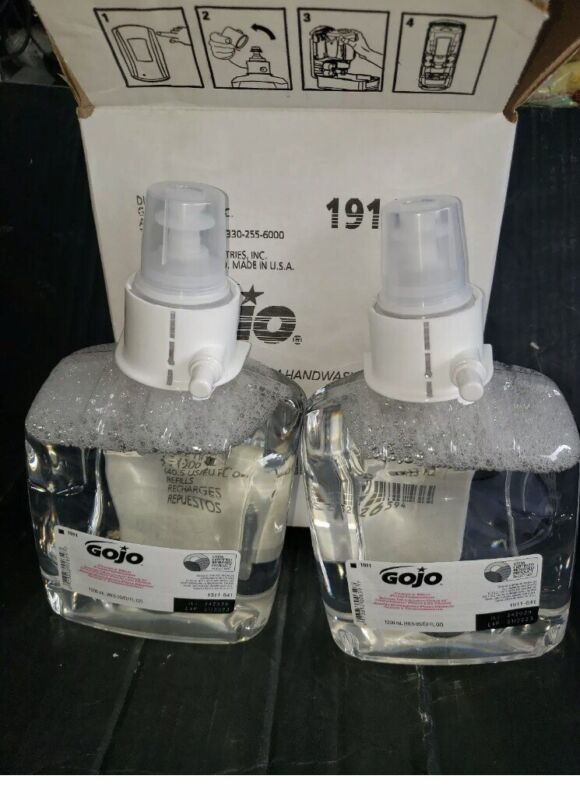 Case of Gojo Clear & Mild Foam Soap 2- (1200mL) Refills