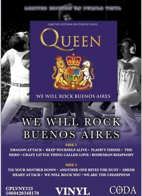 Queen - We Will Rock Buenos Aires - Brand  New Purple Vinyl LP -