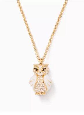 Mini Star Gold Pendant Necklace - KATE SPADE 12K Gold Plated Star Bright Owl Mini Pendant Necklace w/dust Bag