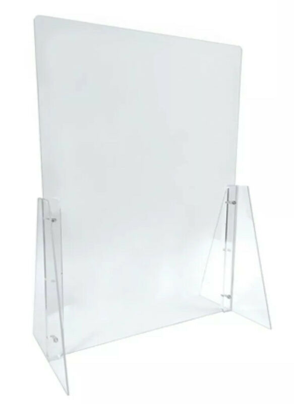 2 Sneeze Guard Acrylic Adjudtable Protection Barrier Cashier, Checkout, Counter