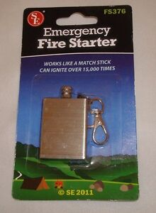Emergency Fire Starter Magnesium Flint Match Striker Lighter Camp Survival FS376