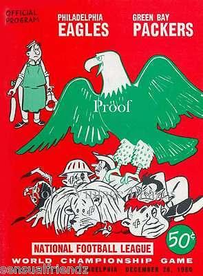 Philadelphia Eagles Green Bay Packers Game Program Poster Vintage Football