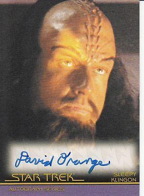 Star Trek Movies Heroes & Villains A127 David Orange autograph