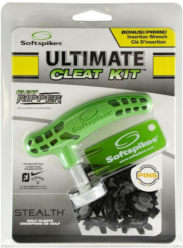 Softspikes Ultimate Cleat Kit With Cleat ripper, 20 Stealth Golf Cleats