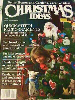 CHRISTMAS IDEAS crafts projects magazine *RARE* 1983~144 pages FREE SHIP USA](Christmas Projects)