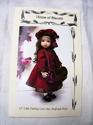 "Effner 13"" Little Darling PATTERN for Dress, Winter Coat, Hat and Muff"