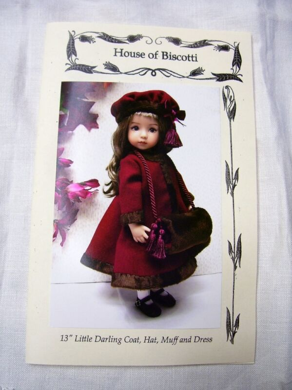 """Effner 13"""" Little Darling PATTERN for Dress, Winter Coat, Muff and Hat"""