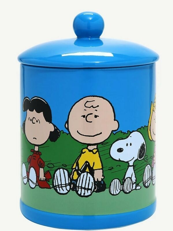 Peanuts Charlie Brown ,Snoopy, Sally,  Lucy & Linus  Cookie Jar  New