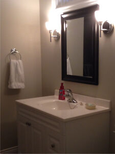 """36.5"""" Cultured Marble counter and built in sink"""