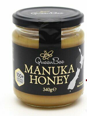 Queen Bee Original New Zealand Manuka Honey 100+ Methylglyoxal Sealed 340g