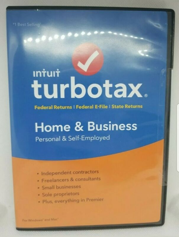2018 TurboTax Home & Business federal Return for PC & Mac PRE OWNED