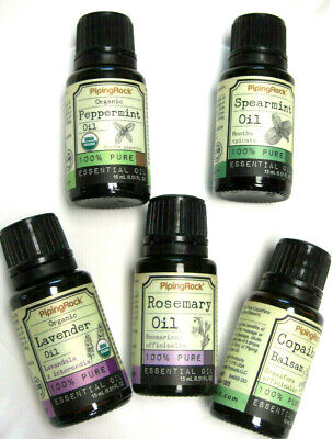 100% Essential Oil 1/2 OZ Dropper Bottle of Peppermint, Balsam, Rosemary & More Essential Oil 1/2 Oz Bottle