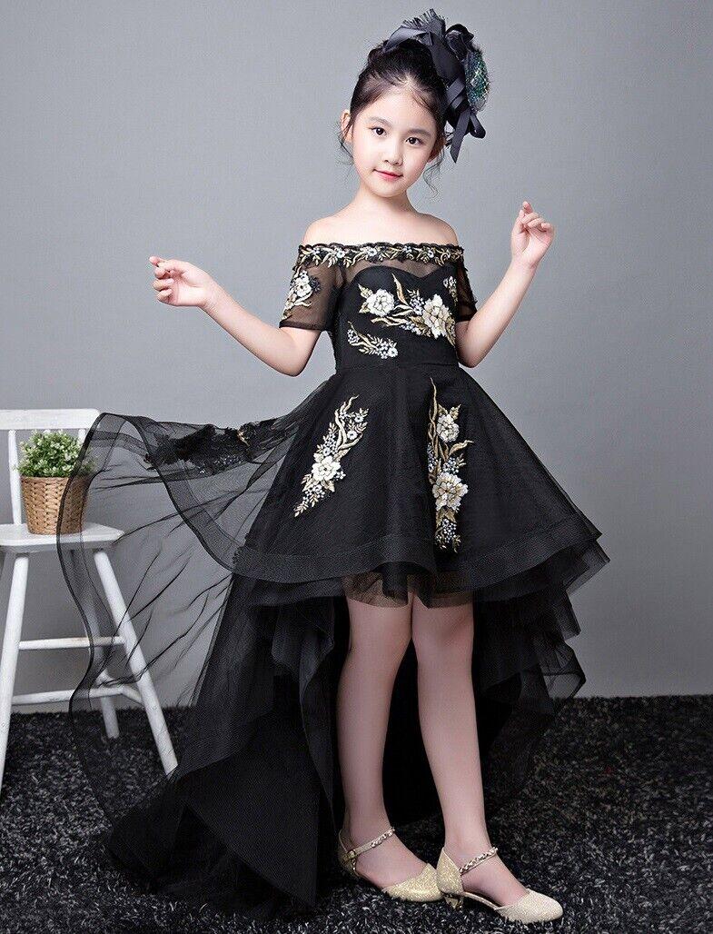 Flower Girl Dress Children Girls Princess Party Formal Graduation Dresses ZG9