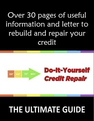 DIY credit repair, letters with law codes ready to be used ready made templates