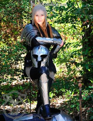 Larp Female Armor Fantasy Costume for women steel set