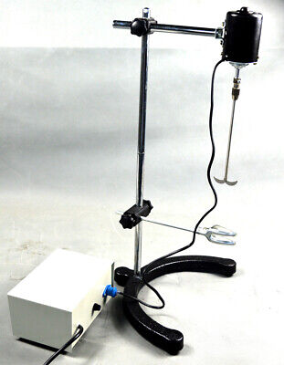 Electric Overhead Stirrer Mixer Variable Speed Drum Mix Biochemical Lab 110v40w