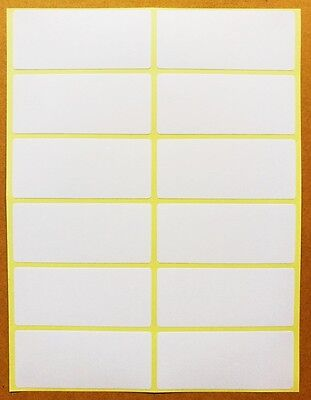 96 Pcs 34x79 Mm White Sticky Labels Price Stickers Tags Blank Self Adhesive 8 P