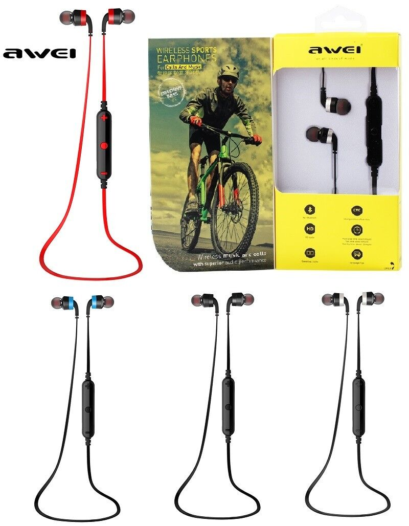 Awei Bluetooth Headset Sweatproof Sports Wireless Stereo Ear