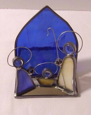 Stained Glass 3D Nativity Scene Wire Mirror Base 4