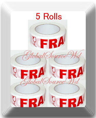 5 Rolls 2 X 110 Yds Fragile Seal Packing Tape If Seal Is Broken