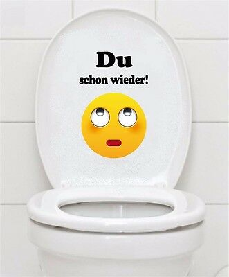 WC Aufkleber Smilie Emoji Smiley Toilette Badezimmer Fliesen Bad Wandtattoo A069