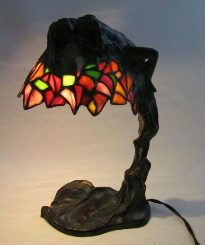 E. Thomasson Daphne In The Bay Tree Bronze Lamp