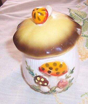 Merry Mushroom Medium Canister w Lid Sears 1978 Japan