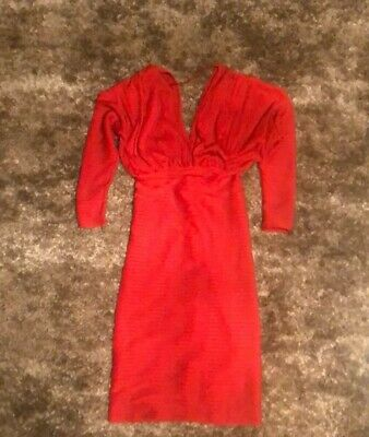 Isabel Garcia women's dress midi red size L Preowned