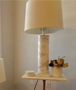 2 Table/Nightstand Marble Lamps
