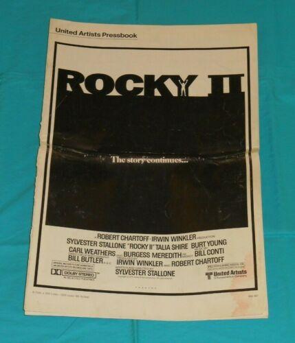 original ROCKY II PRESSBOOK