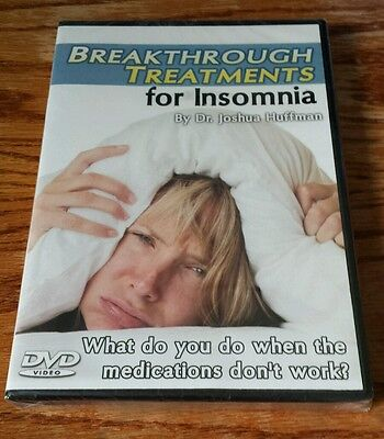 Breakthrough Treatments for Insomnia (DVD) Dr. Joshua Huffman growing young NEW