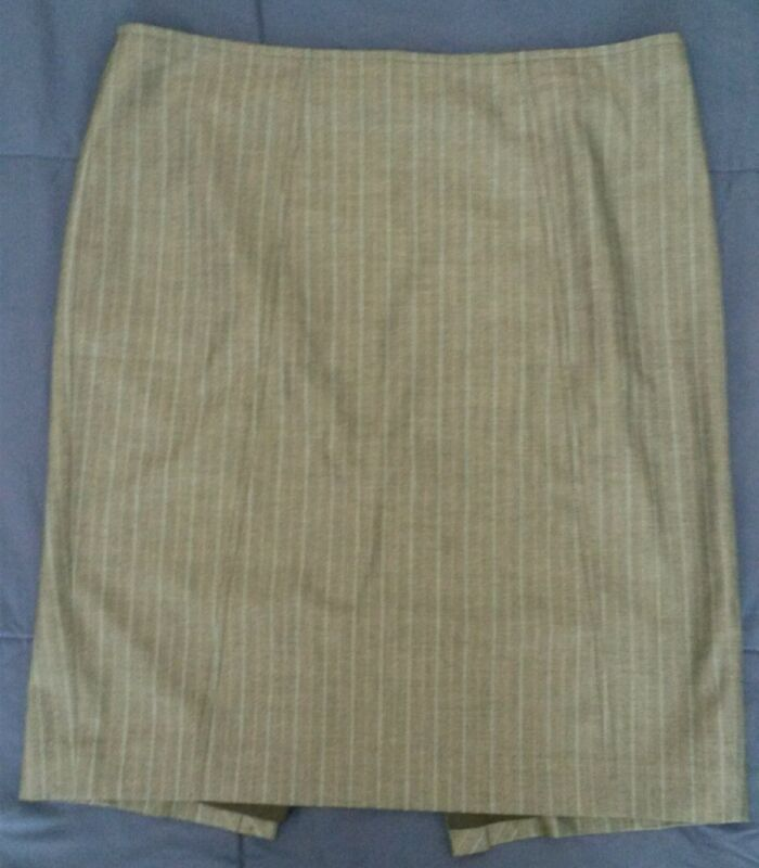 Women's Express Design Studio Lined Pin-Striped Pencil Mini-Skirt w/Split sz8