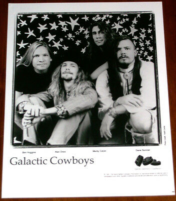 Galatic Cowboys 8x10 B&W Press Photo DGC Records 1991