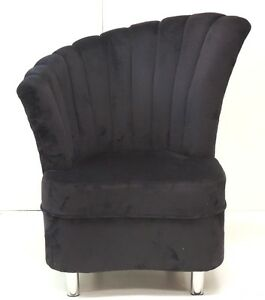 Black Velvet Chair EBay
