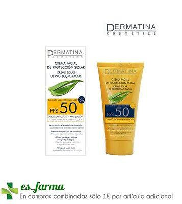 DERMATINA CREMA FACIAL PROTECCION SOLAR ALTA ALOE VERA SPF50 50ML ANTIOXIDANTE