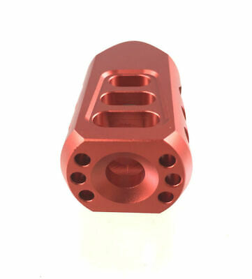 DB TAC Red ALUMINUM Low Concussion Tanker Muzzle Brake 1/2x28 TPI For 223 556
