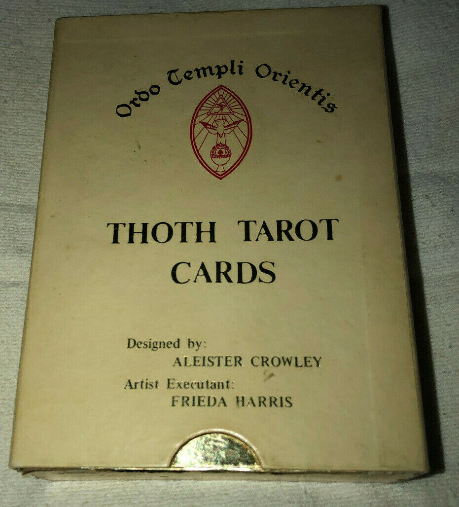 Vintage Aleister Crowley Thoth Tarot Deck 4 X 5 1/2 Set White/Gold Box Original - $400.00