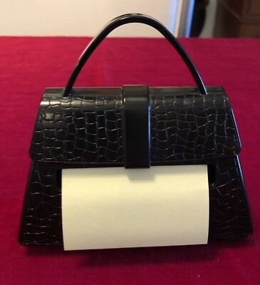 Black Purse-shaped Wheighted Post-it Note Holder