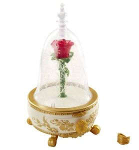New Disney Beauty And The Beast Enchanted Rose Jewelry Box Lights Up music Ring