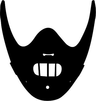 Hannibal Lecter mask vinyl decal sticker horror Silence of the Lambs - Hannibal Mask