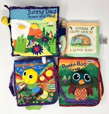 Lamaze Baby Soft Cloth Book PEEK-A-BOO FOREST Shine A Light Crinkle Fabric Qty 4