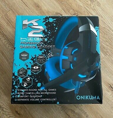 NEW* Gaming Headset Onikuma K2 7.1 Channel Surround Sound Stereo - PS4AND PC