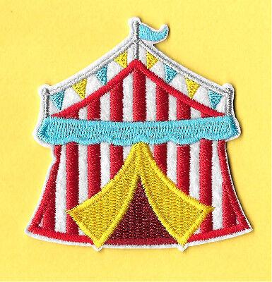 Circus Tent - Circus - Fair - Clowns - Acrobats - Embroidered Iron On Patch  - Kids Circus Tent