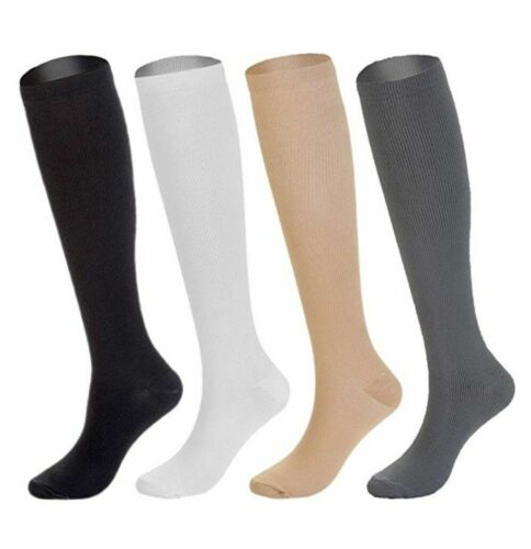 (4 Pairs) Compression Socks Stockings Graduated Support Men
