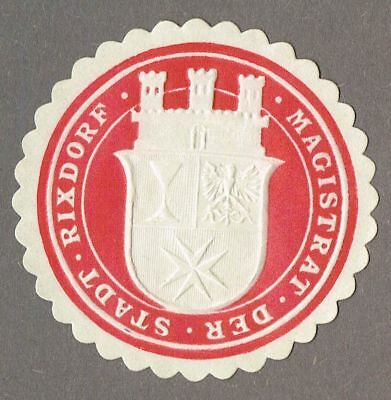 Siegelmarke MAGISTRAT DER STADT RIXDORF