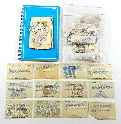 Stamp Collection Lot ^ Harris & Mystic Grab Bags Paragon Stamp Stock Book